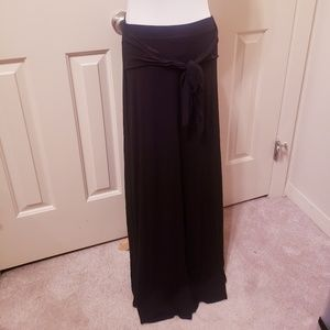 WHBM Hi-Low Black Maxi Skirt